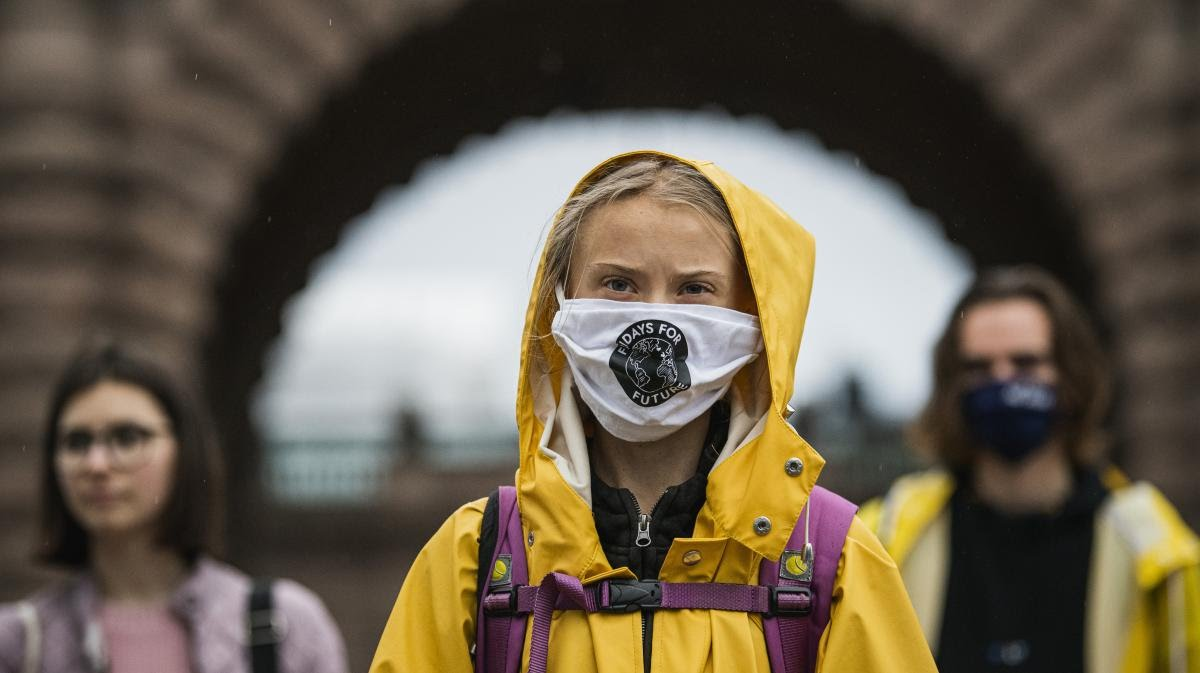 Greta Thunberg, figure of the international youth climate movement, October 9, 2020 in Stockholm (Sweden).